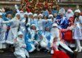 Шестой парад Дедов Морозов и Снегурочек в Нью-Йорке собрал рекордное количество участников