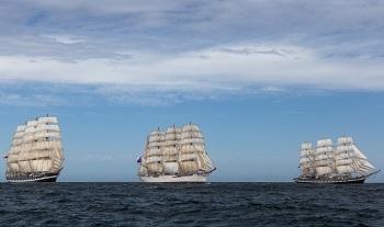 Завершилась экспедиция учебно-парусных судов «Паллада», «Крузенштерн» и «Седов»
