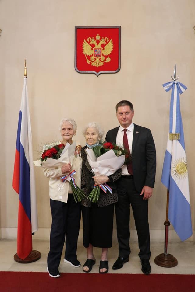 В Аргентине ветеранам вручили медали  «75 лет Победы в Великой Отечественной войне 1941-1945 гг.»