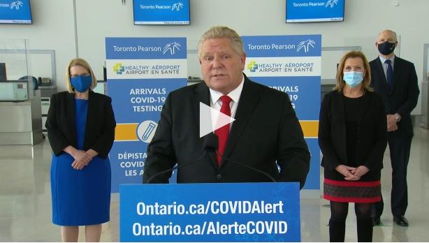 Провинция Онтарио предлагает бесплатные добровольные тесты на COVID-19 для прибывающих международных путешественников