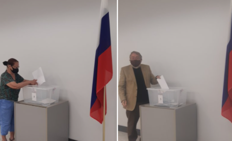 В канадском Виндзоре россияне проголосовали на Выборах — 2021